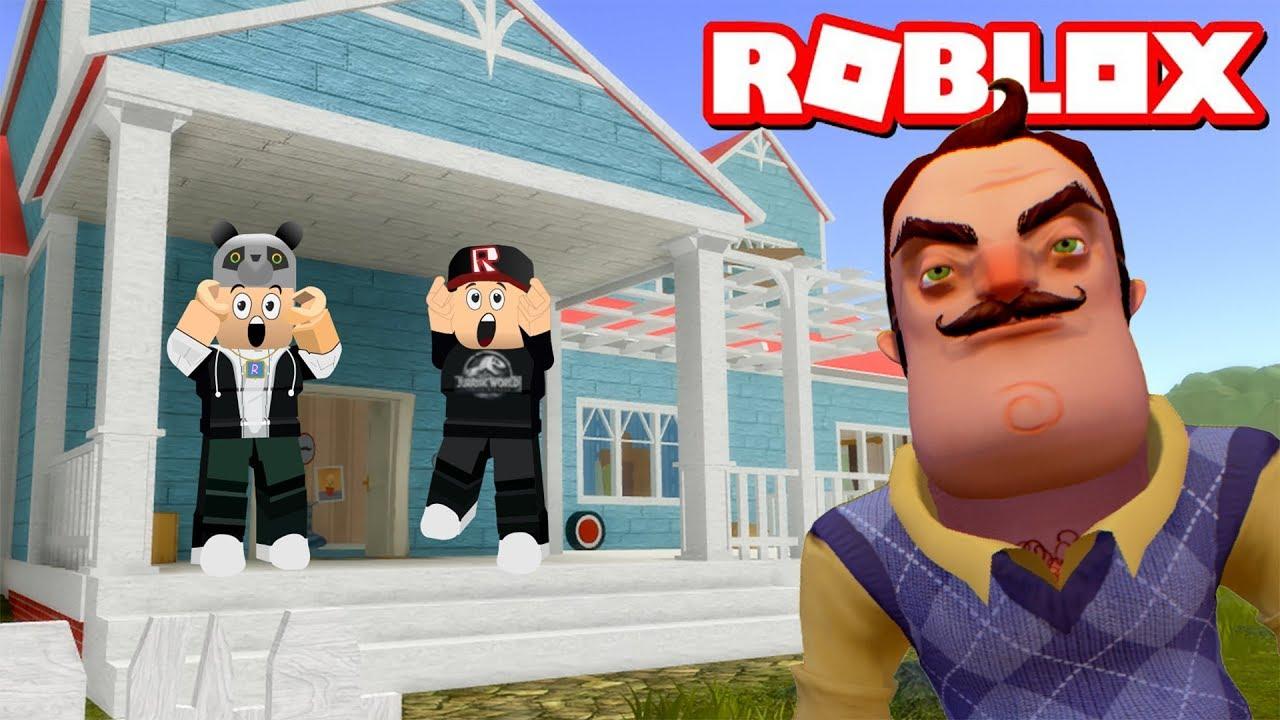 Kötü Komşunun Gizemli Evine Girdik!! - Panda ile Roblox Hello Neighbor
