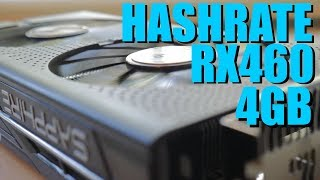 Sapphire Nitro RX 460 4GB Crypto Mining Hashrate