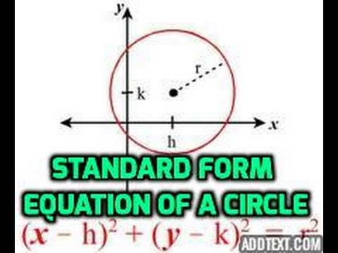 The Standard Form Of Equation Of A Circle Explained In Under 3