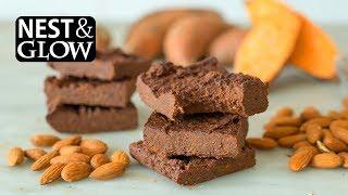 3-Ingredient Healthy Chocolate Brownies - no music