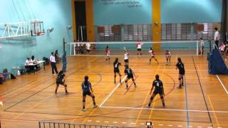 2016 B Div Girls National DHS vs SMB 0-2 1st set