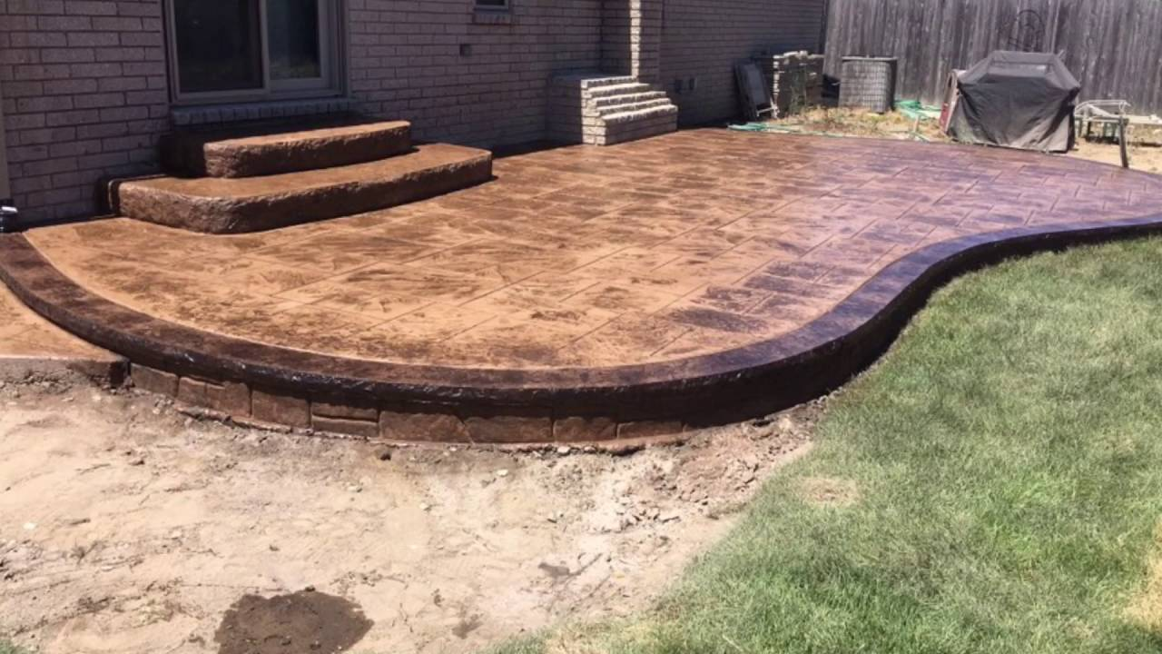 Stamped Concrete With Brickform Acid Stain Borders