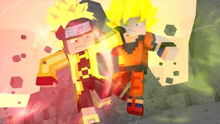 Minecraft: SUPER HEROES PVP #3 - GOKU VS NARUTO ‹ Ine ›