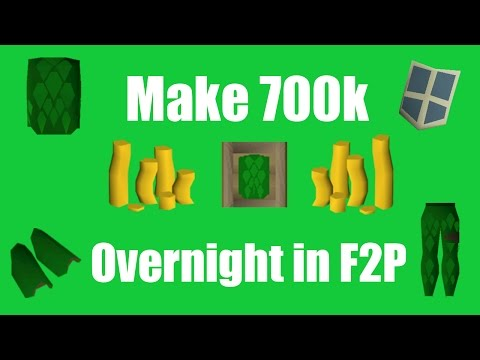 [OSRS] Make 700k Overnight In F2P - Oldschool Runescape Money Making Method