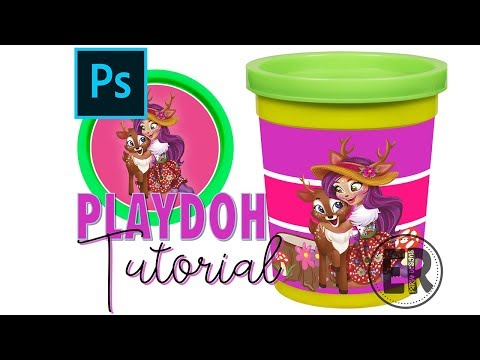 PLAYDOH / PLAYDOUGH WRAPPERS IN PHOTOPROP HOW TO MAKE IN PHOTOSHOP