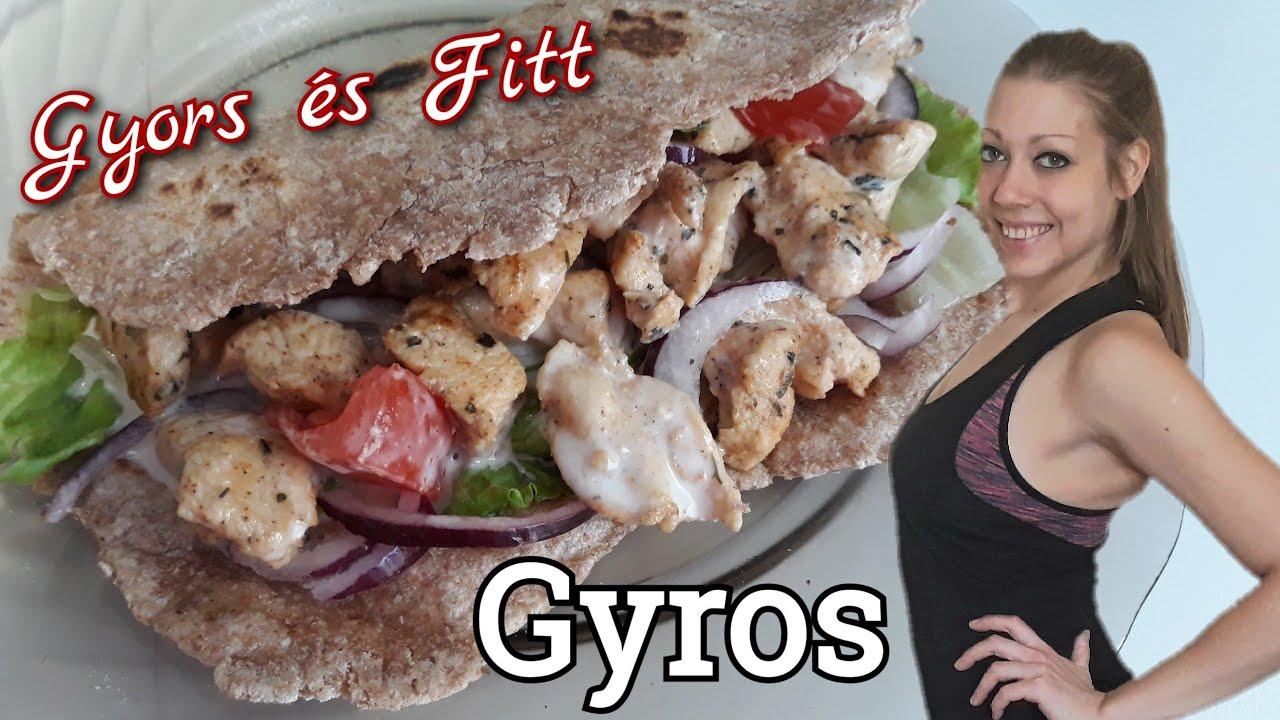 Gyors Fitt Házi Gyros - Fogyás Diéta Életmódváltás - YouTube