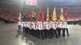Marching contingents at NDP 2016