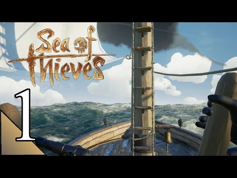 Sea Of Thieves 1:  Basic Mechanics & Intro To Solo Play..  Let's Play Gameplay