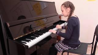 Цыганочка - Петухова Алина, общее фортепиано, 3 месяца обучения