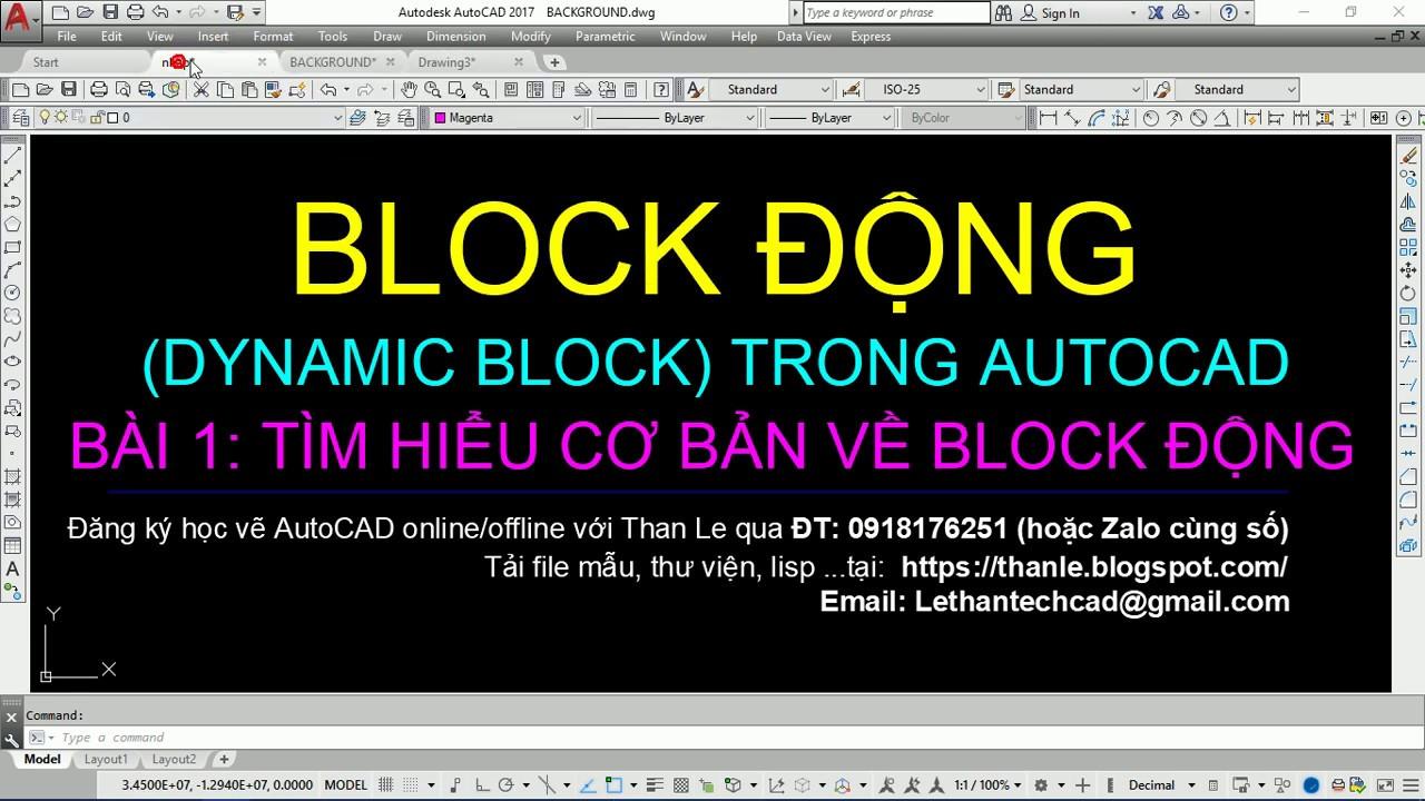 Gợi ý kinh nghiệm tạo Dynamic Block trong CAD