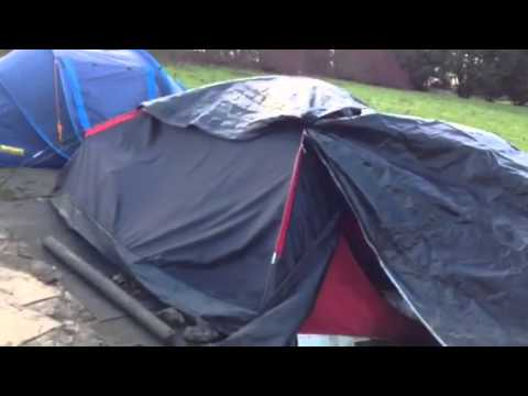 Homeless couple living in tent near Bu0026Q in Milton Keynes & Homeless couple living in tent near Bu0026Q in Milton Keynes - YouTube