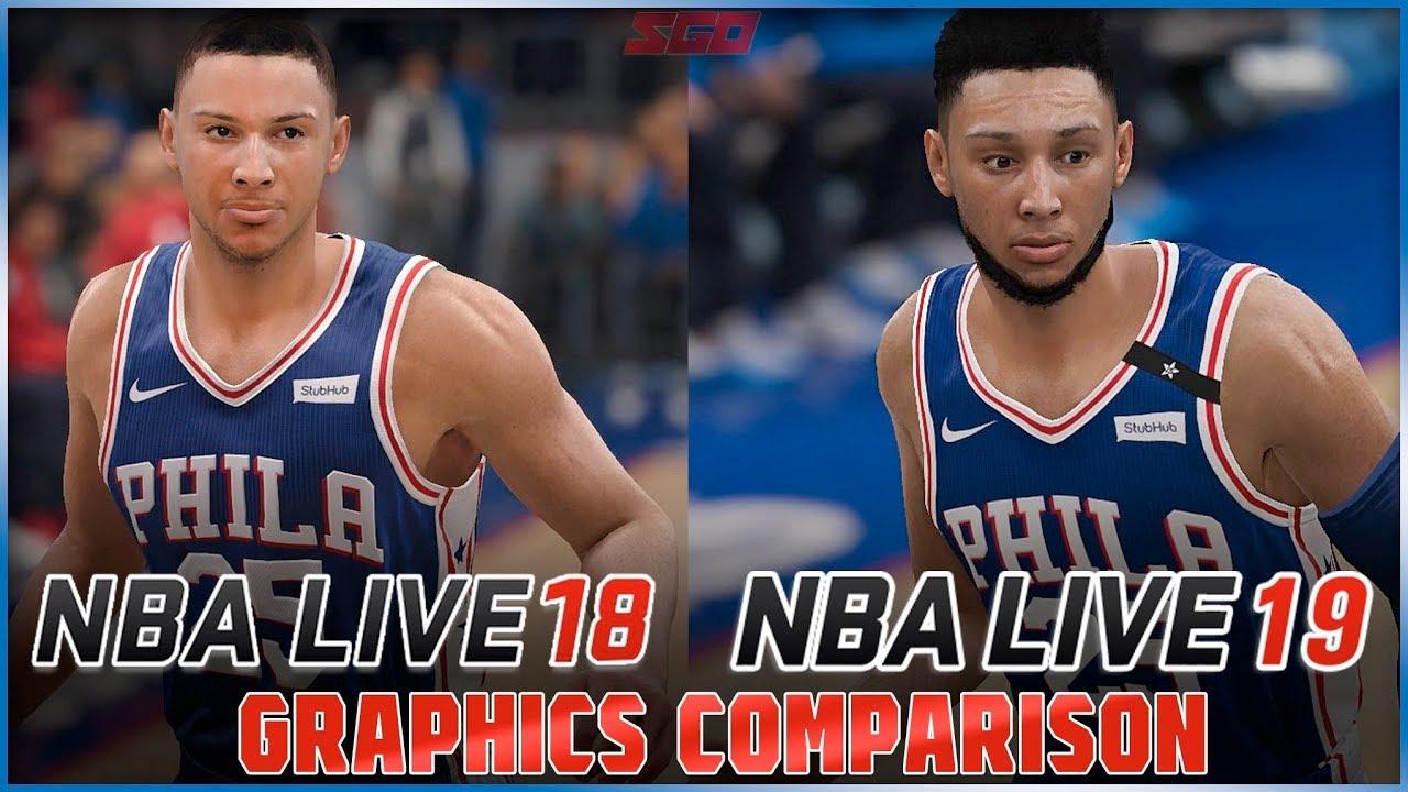 NBA Live 19 vs NBA Live 18 Graphics Comparison