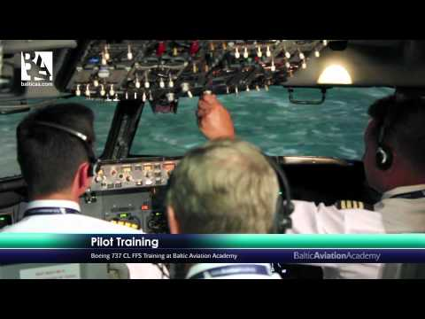 Baltic Aviation Academy: Pilots Training in Full Flight Simulator (FFS)