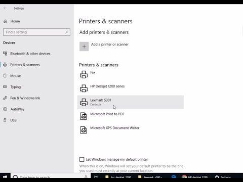 How to install lexmark s301 printer on Windows 10 manually using