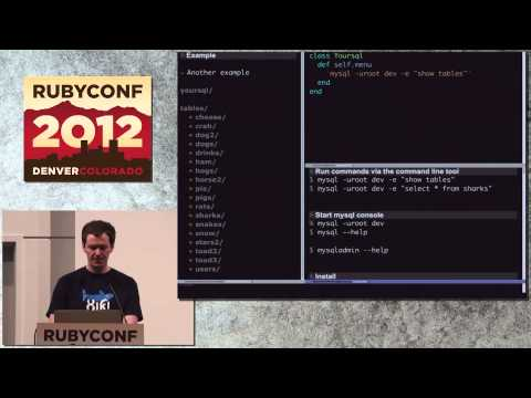 Ruby Conf 12 Xiki: The Rubyfied Next-generation Shell By