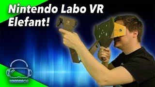 Wir bauen und testen den Nintendo Labo VR Elefanten! [Nintendo LABO Toy-Con 04 VR KIT]