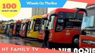 100 Xe Buýt Sài Gòn - The Wheels On The Bus Go Round And Round - Saigon Bus No 06 -  HT BabyTV