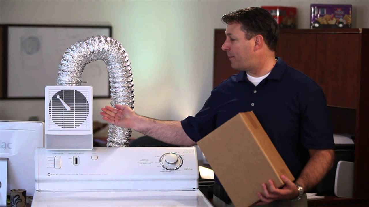 Indoor Lint Trap Filter - See how it works! - YouTube