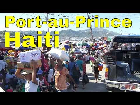Driving through Port of Prince, Haiti