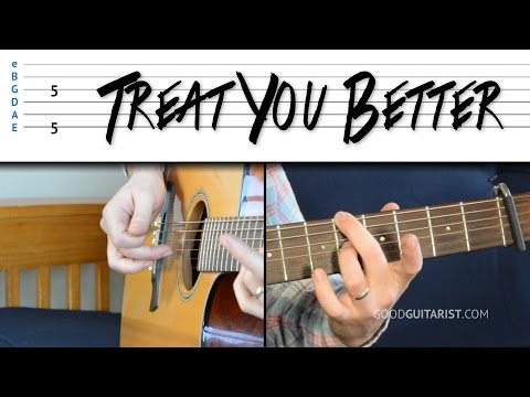 Treat You Better  Guitar Tutorial  Shawn Mendes  Riff And Chords