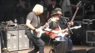 Johnny Winter leaves the stage for the last time