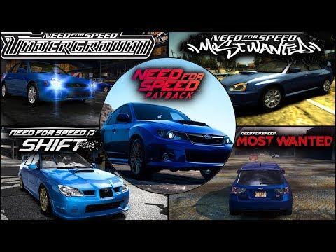 Subaru Impreza Evolution In NFS Games - 1080pHD