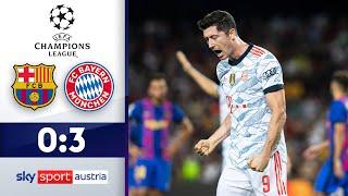 Bayern und Lewandowski zu stark | FC Barcelona - Bayern München | Highlights - CL 21/22 - Spieltag 1