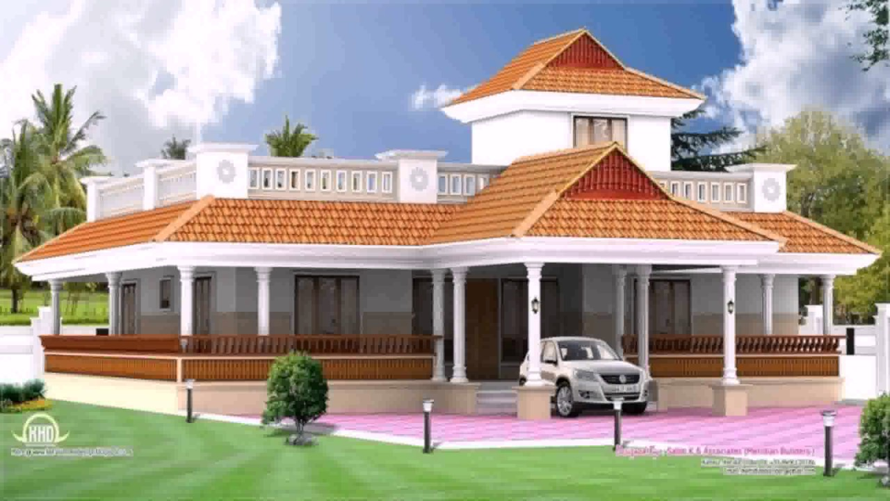 Kerala style traditional house plans youtube for Kerala style garden designs