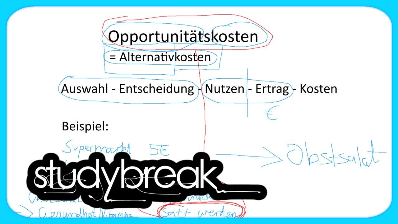 opportunittskosten - Opportunitatskosten Beispiel