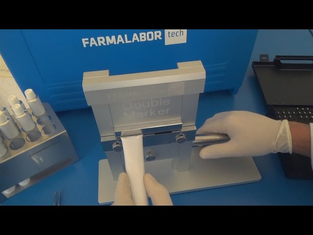 Timbratrice Double Marker per tubetti e blister