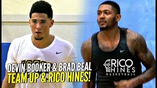 Devin Booker & Brad Beal TEAM UP at Rico Hines UCLA Runs!!