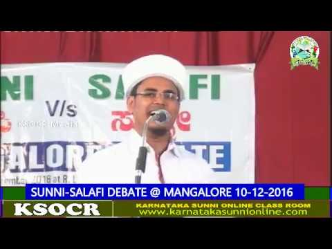 SUNNI-SALAFI DEBATE-@ MANGALORE 10-12-2016 Part 2