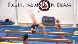 Front Aerial on Beam   Training on Balance Beam