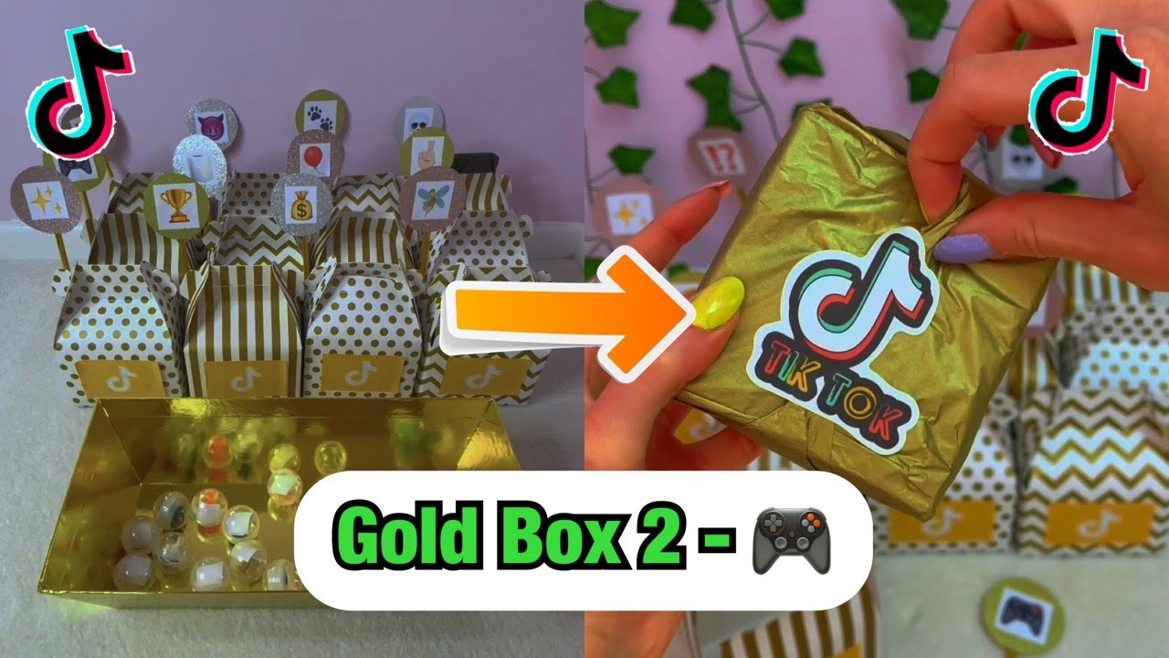 Download TikTok Mystery GOLD Boxes - BOX 2!!🎮 *asmr* #Shorts