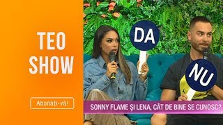 Teo Show - Sonny Flame si Lena au raspuns cu DA sa NU! Cat de bine s-au potrivit raspunsur ...