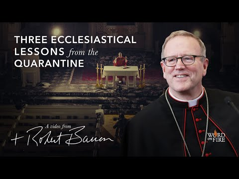 Bishop Barron on Three Ecclesiastical Lessons from the Quarantine