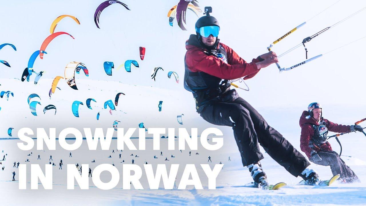 Two Kitesurfers Try Snowkiting in Norway | Red Bull Ragnarok 2019