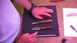Quick review of 2 compact fixed blade Anza knives. High quality, to...