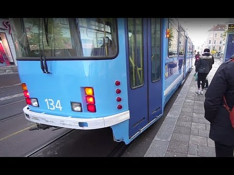 Norway, Oslo, tram ride from Torshov to Olaf Ryes Plass