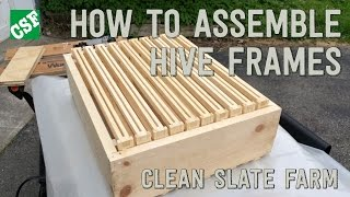 Part One - Bee Hive Frames, Building The Frames