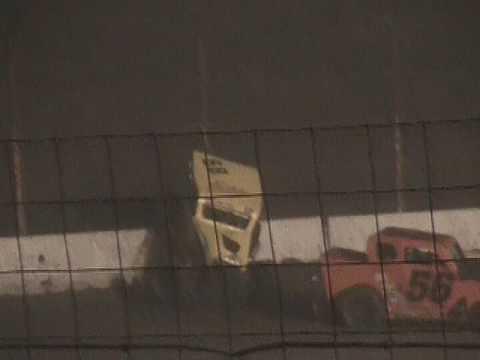 #68 Bobby Thompson Dwarf Car Rollover Barona  Speedway 5-20-2017