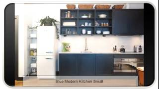 Blue Modern Kitchen Small