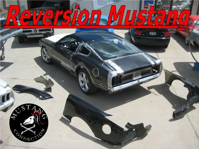 Reversion 2011 Mustang GT meets 1968 Mustang Fastback built by Johnny Sparks at Russo and Steele