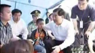 Chinese president Hu jintao in sichuan,earthquake areas