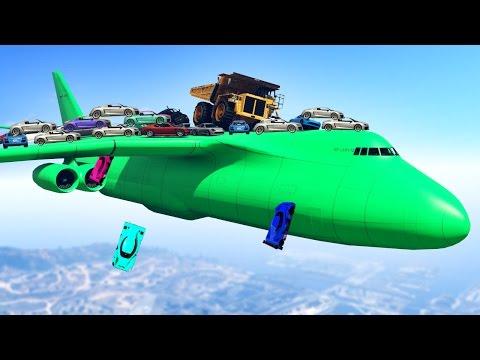 FLYING 1000 CARS ON A PLANE! (GTA 5 Mod)