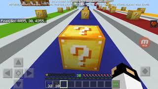 Novo mapa de Lucky block testando com meu irmão