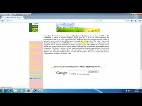 Punjab land record society Fard find krni SmartScreenTechVideo