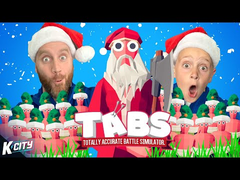 KING SANTA & the THOUSAND ELF Army in Christmas TABS! K-CITY GAMING