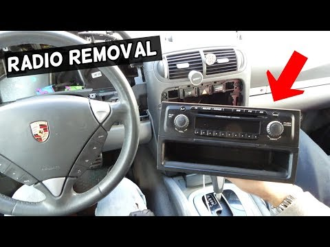HOW TO REMOVE AND REPLACE RADIO ON PORSCHE CAYENNE S TURBO