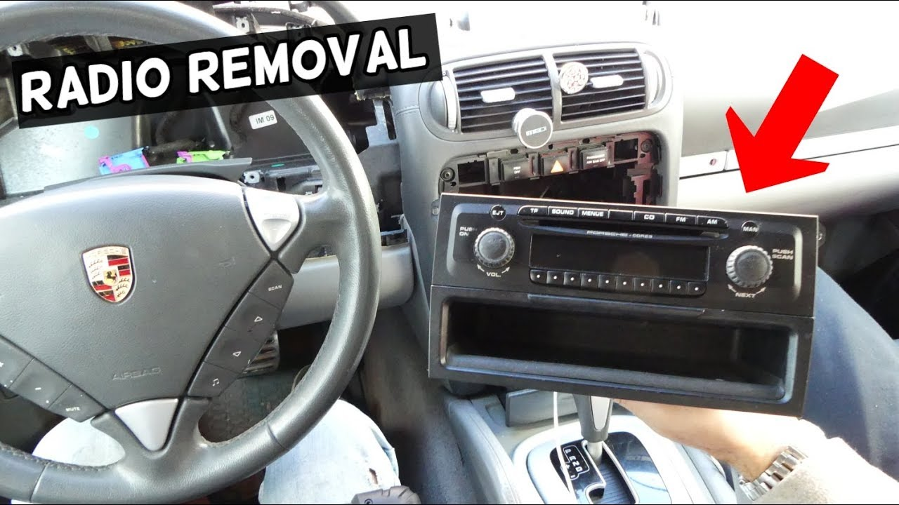 hight resolution of how to remove and replace radio on porsche cayenne s turbo